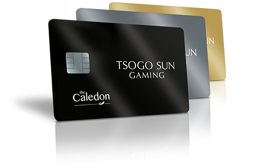 All the new Rewards The Caledon casino cards with a white background