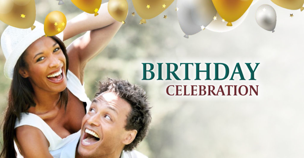 Birthday Celebration gaming promotion header banner