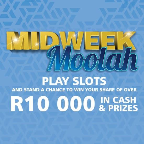 Midweek Moolah gaming promotion slider banner